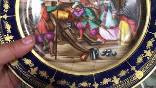 Лиможская тарелка начала 20 века ручная роспись в отличном состоянии на продажу