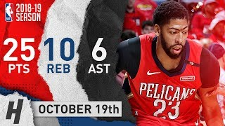 Anthony Davis Full Highlights Pelicans vs Kings 2018.10.19 - 25 Pts, 10 Reb, 6 Ast