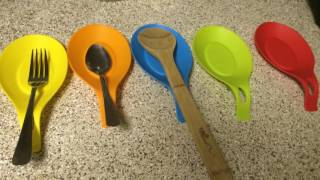 Angelbubbles Spoon Rest Holder 100% Food Grade Silicone Set of 5