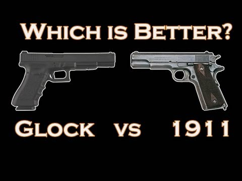 Image result for glock & a colt 1911