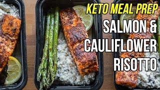 Quick Keto Meal Prep - Salmon & Cauliflower Risotto / Comida Ketogenica