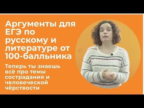 Аргументы для сочинения на ЕГЭ по русскому и литературе. Часть 2