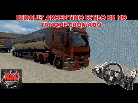 ETS2 - Renault BR no Tanque Cromado - Brasil Rodovias - Logitech G27