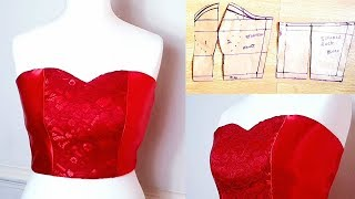 Tube top | Strapless top | Pattern Drafting | Cutting and Sewing |Tube top pattern and sewing