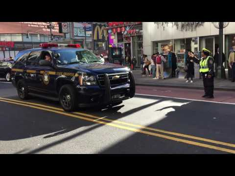UNPRECEDENTED HEAVY VOLUME OF NEW YORK STATE TROOPERS POURING INTO NYC FOR PRESIDENTIAL RESULTS.