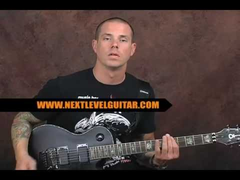 How to solo in Drop Tuning lead guitar soloing lesson using pentatonic scales and arpeggios