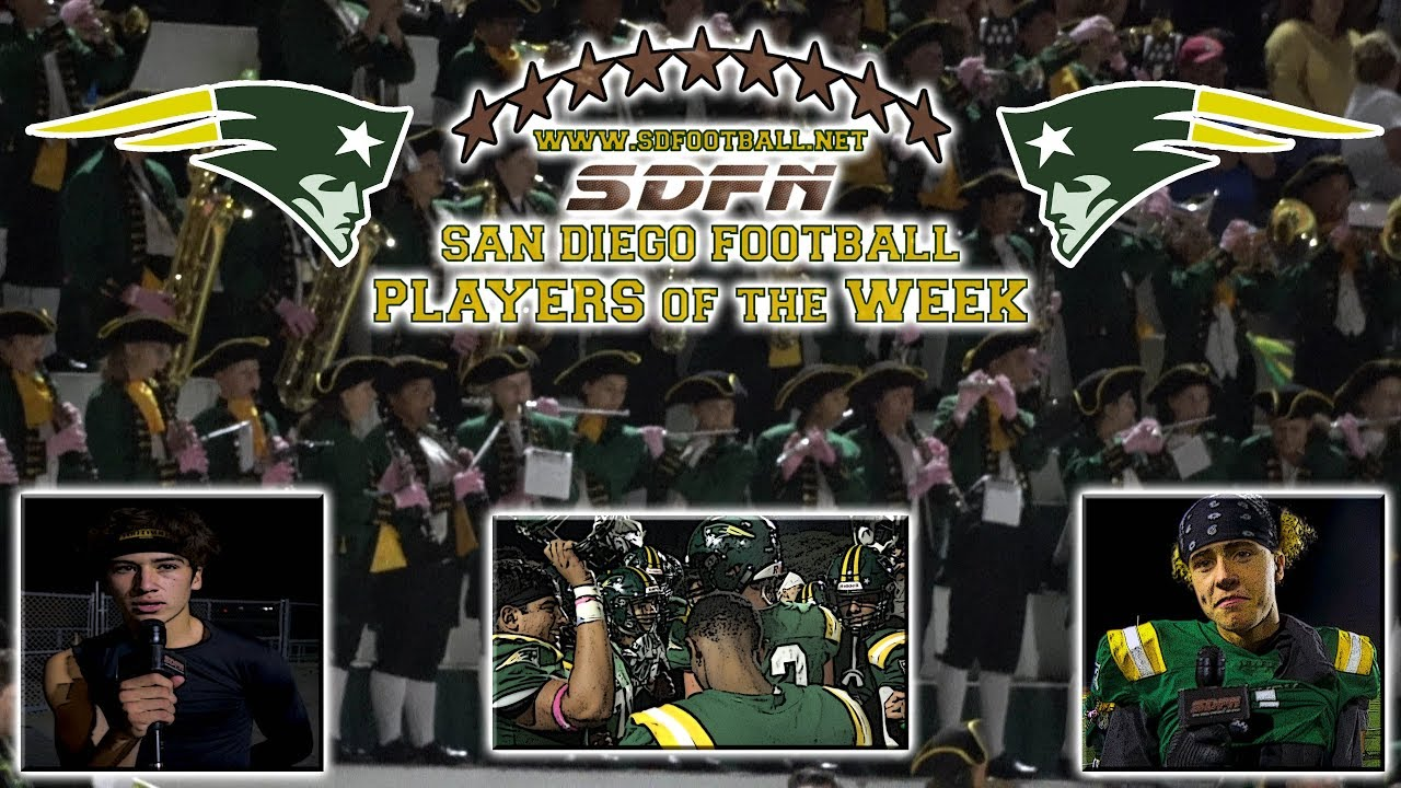 SDFN Players of the Week (Oct. 11-12)