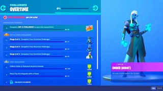 HOW TO UNLOCK FORTNITE SEASON 8 OVERTIME CHALLENGES! EMBER, MASTER KEY, SIDEWINDER FREE EDIT STYLES