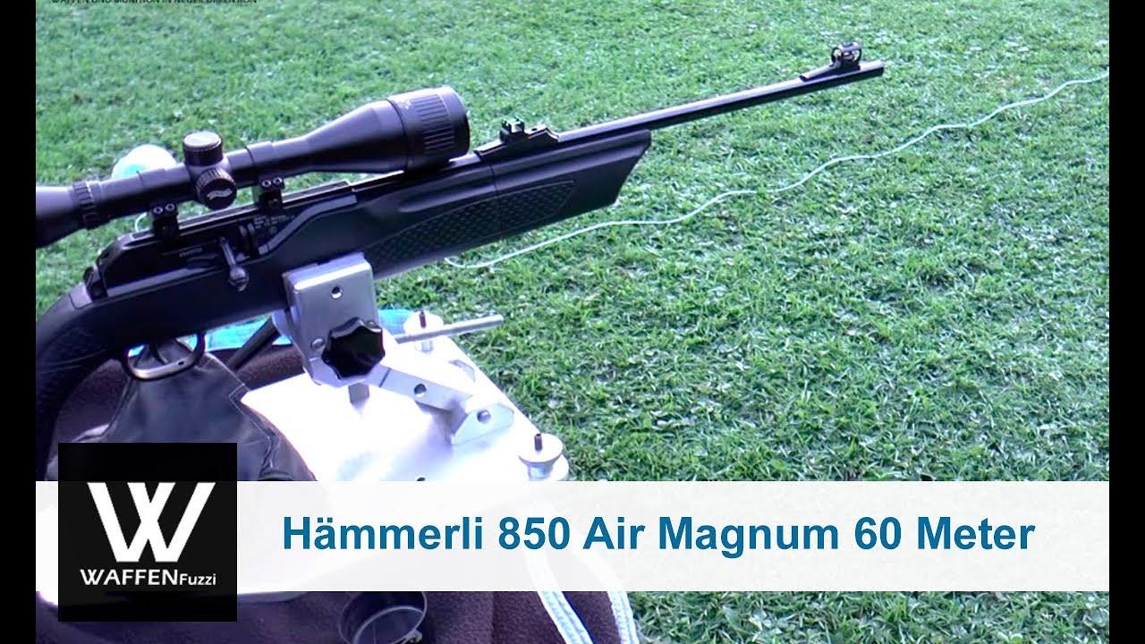 Hämmerli 850 air magnum 60 meter distanz schusstest www