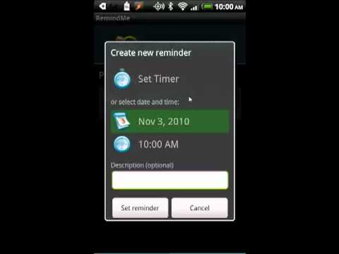 Free Birthday Reminder App ~ How to create reminders on your android phone youtube