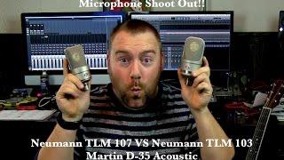 Microphone Shoot Out!! Neumann TLM 107 VS Neumann TLM 103 (Martin Acoustic)