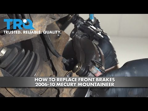 How To Replace Front Brakes 2006-10 Mercury Mountaineer