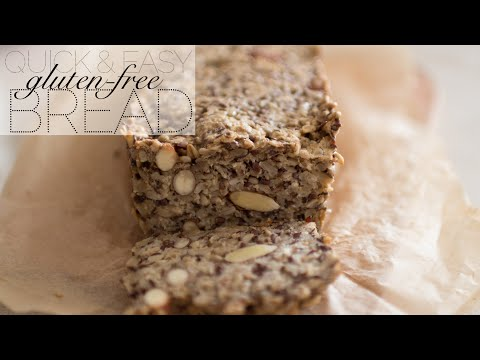 Super EASY Healthy Gluten-free Dairy-free BREAD RECIPE