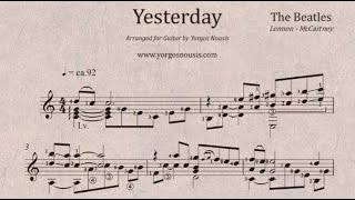 The Beatles - Yesterday - Guitar / arranged and performed by Yorgos Nousis