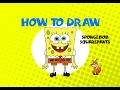 How to draw Spongebob - STEP BY STEP - DRAWING TUTORIAL
