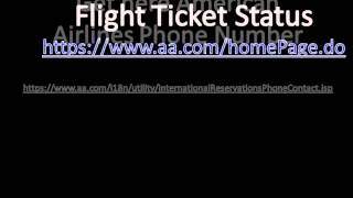 get american airlines phone number check flight status