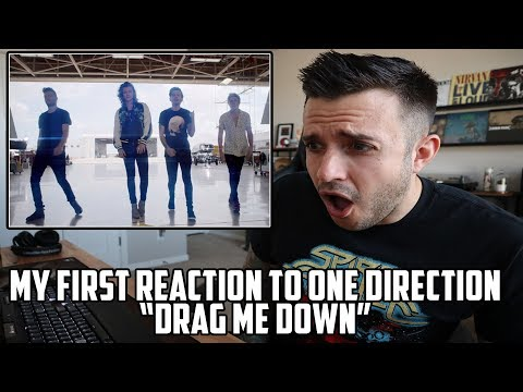 FIRST REACTION TO ONE DIRECTION - DRAG ME DOWN - WHOAAA