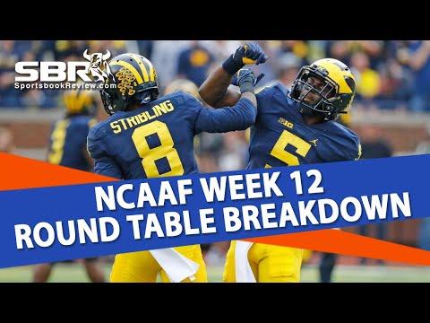 College Football Betting | Michigan vs Wisconsin + Week 12 Free Picks | SBR Roundtable
