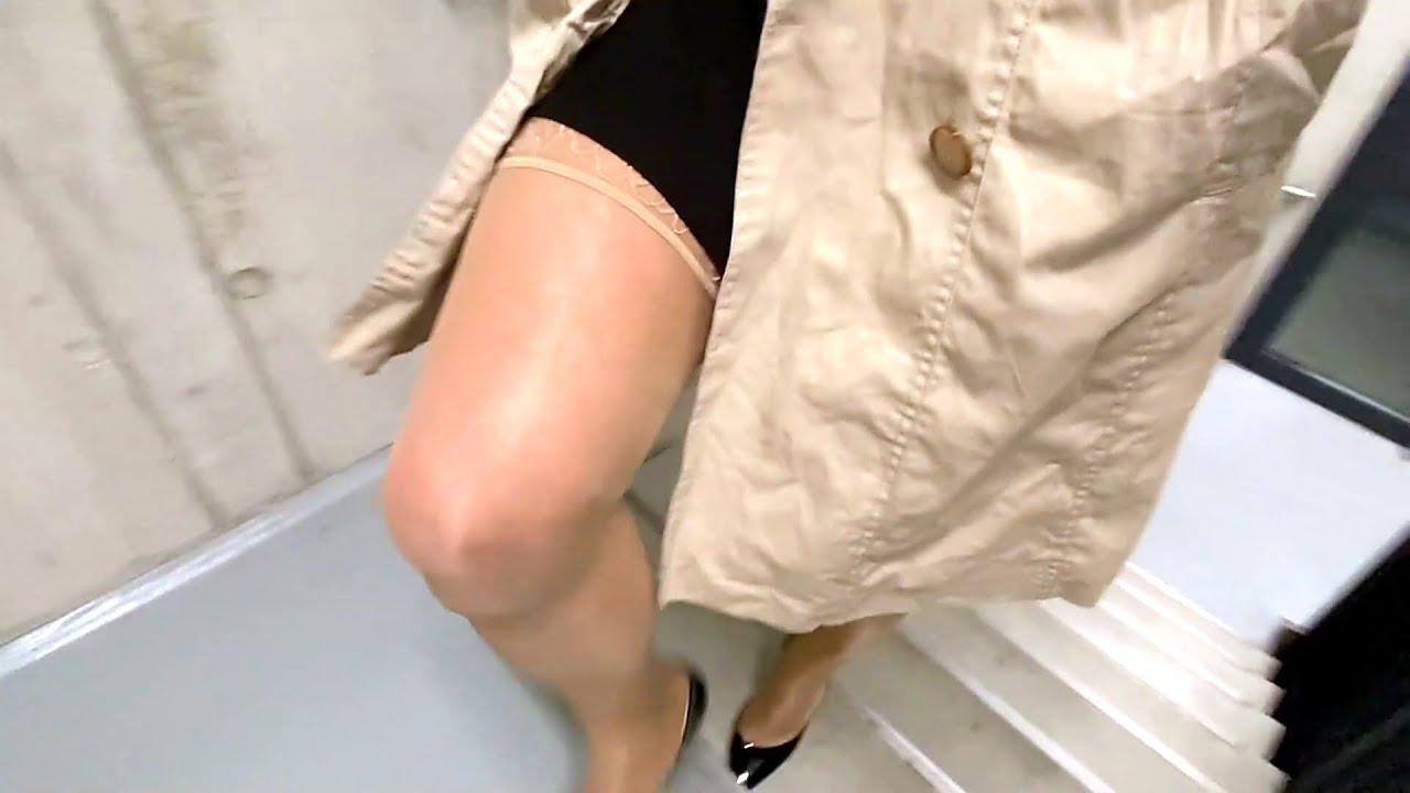 Corinne Cherie , transvestite crossdresser outdoor with