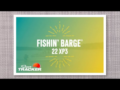 Sun Tracker Fishin' Barge 22 XP3 video