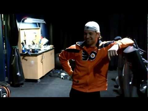 Working Out With The Philadelphia Flyers
