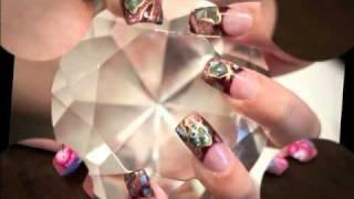 Edge acrylic nails,mosaic tips. Thumbnail