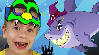 Baby Shark   Kids Song on Halloween   Halloween Song nursery Rhymes from Dima Family Show