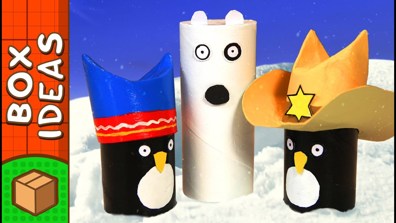 Polar Bear Surprise - DIY Paper Roll Crafts For Kids | Box ... - photo#14