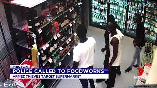 News Spikes Support For Crime Ridden Foodworks Shop.(Melton) Seven News Exclusive