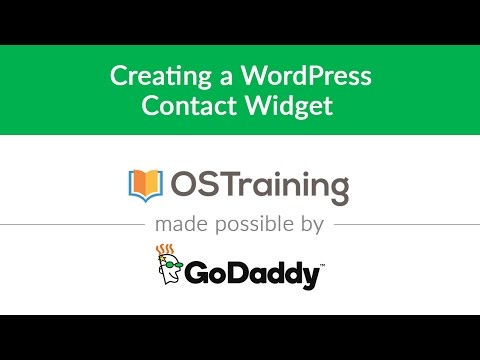 Creating a contact widget in WordPress [video] - The Garage