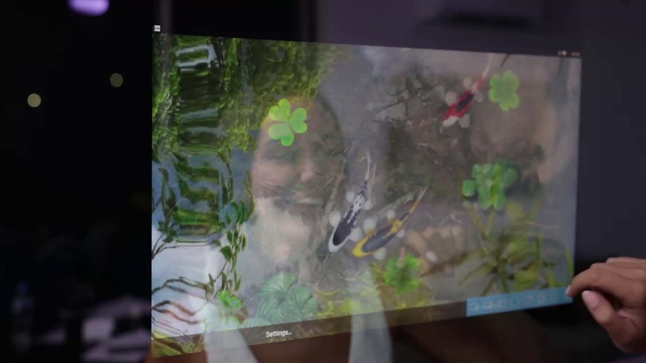 Embrace Smart Mirror Live Wallpaper Demo Water Garden