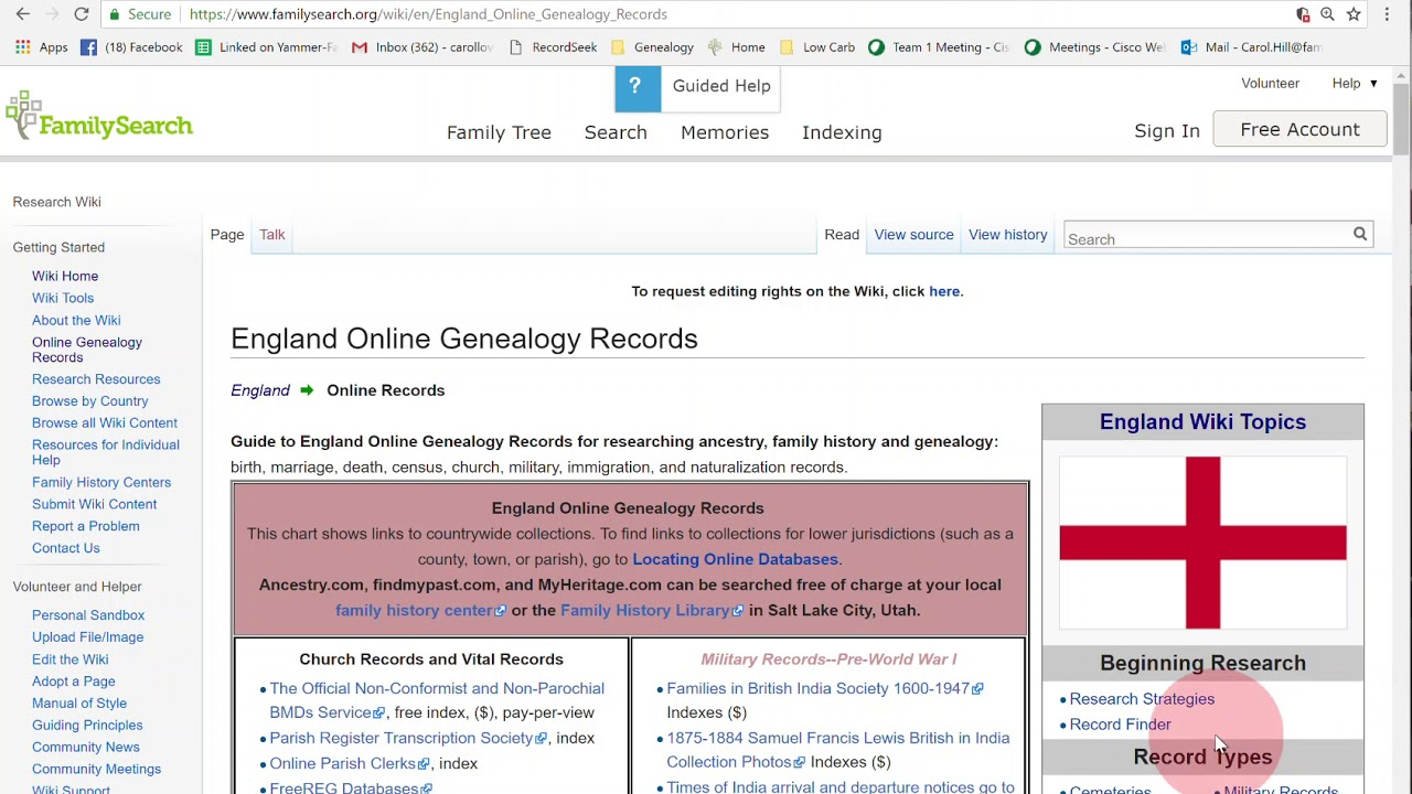 familysearch wiki research help free genealogy help youtube