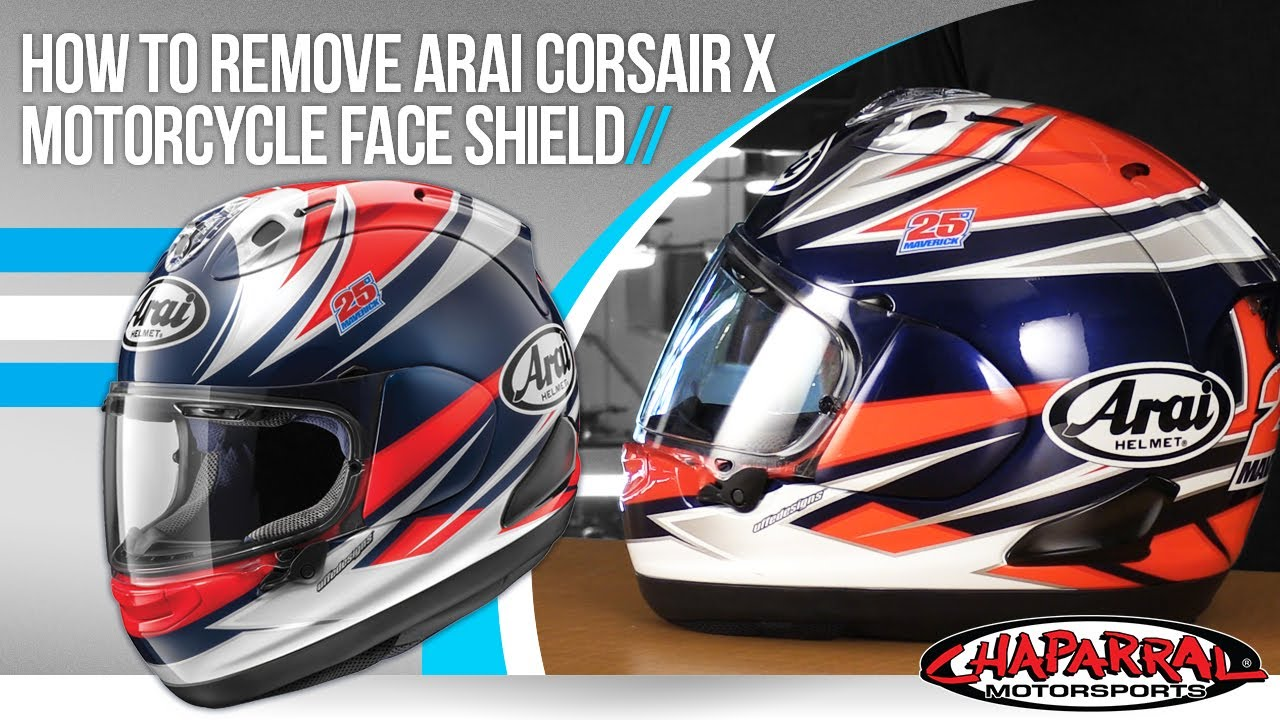 83a9523aac200 How To Change The Face Shield On Arai Corsair X Motorcycle Helmet at  Chapmoto.com
