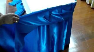 Making Table Skirt Basic Twist Style, การทำ Skirt แบบเกลียวอย่างง่าย