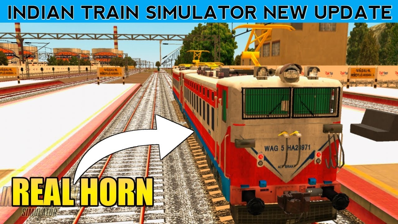 INDIAN TRAIN SIMULATOR NEW UPDATE || WAG5 REAL HORN & TRACK SOUND