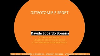 Osteotomie e Sport D Bonasia
