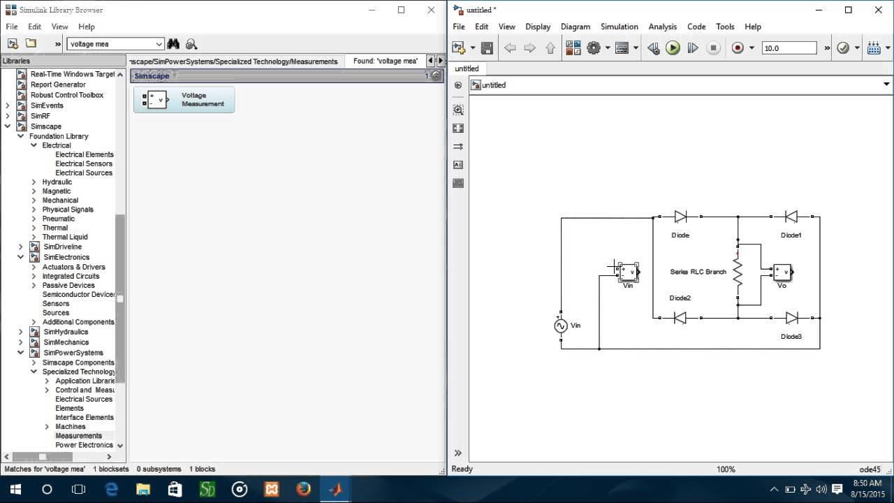 Matlab Simulink Model Full Wave Rectifier Youtube Diagram