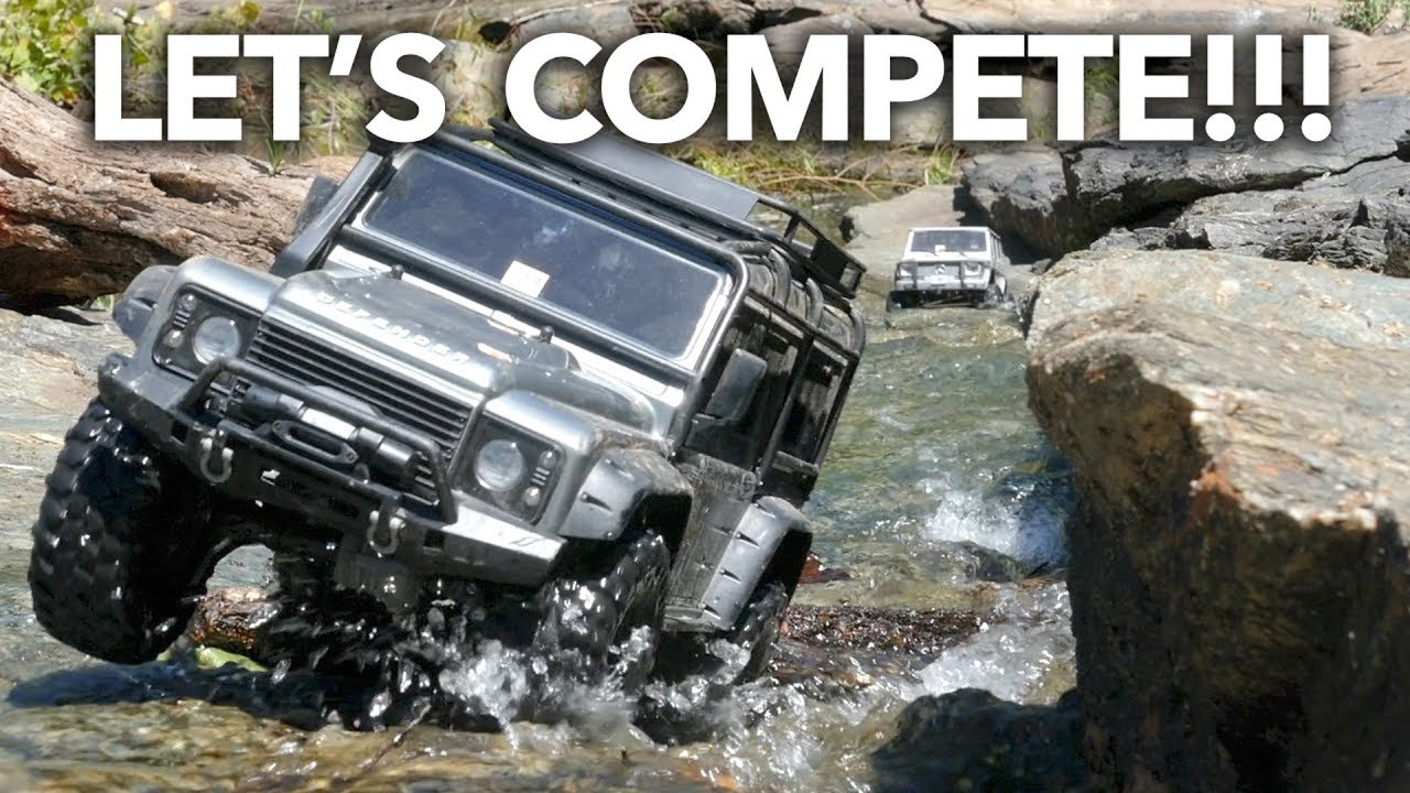 RC Trail Trucks Friendly Competition While Camping