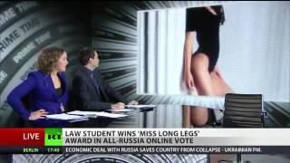 全日本美少女コンテスト 2014映像 ロシアで開催された「ミス脚長コンテ...