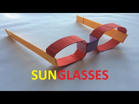 How to make a paper sunglasses | Easy origami sunglasses | Paper Sunglasses Origami Craft