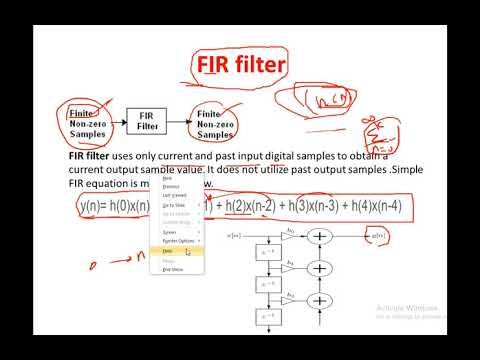 FE Electrical review course :Signal Processing- Digital filters