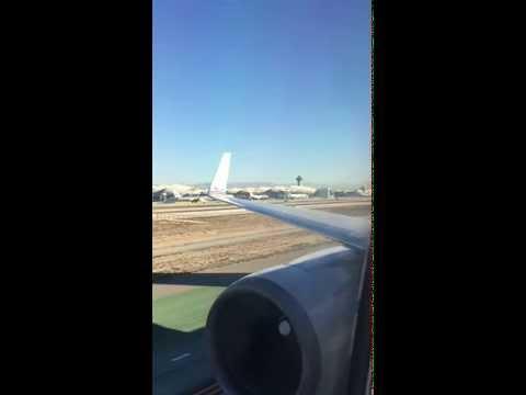 Landing at LAX on AA 767