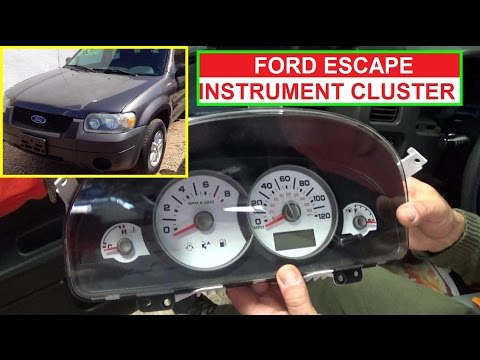 Ford Escape Instrument Cluster Removal And Replacement  How To Remove Instrument Cluster