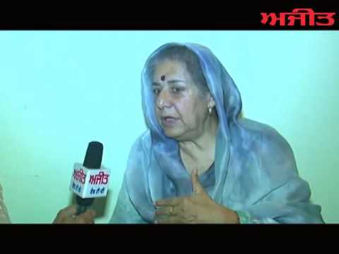 Interview with Ambika Soni Congress Candidate from Shri Anandpur Sahib on Ajit Web Tv.