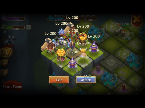 New Update LADY Leo New Dungeons Lava3 Lost Realm Castle Clash