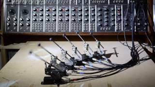 Solenoid percussion controlled by modular synth