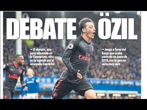 Barcelona consider January deal for Arsenal ace Mesut Ozil