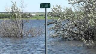 North Dakota Flood (135 Ave NW Williston,ND/ Little Muddy River)