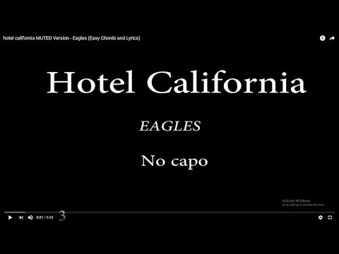 hotel california MUTED Version - Eagles (Easy Chords and Lyrics)