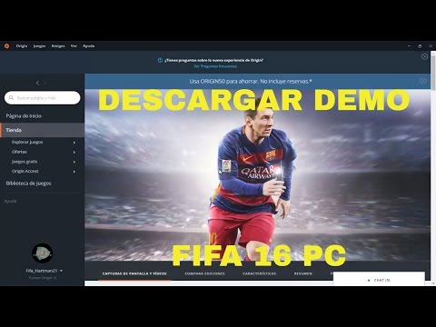 COMO DESCARGAR DEMO FIFA 16  PC